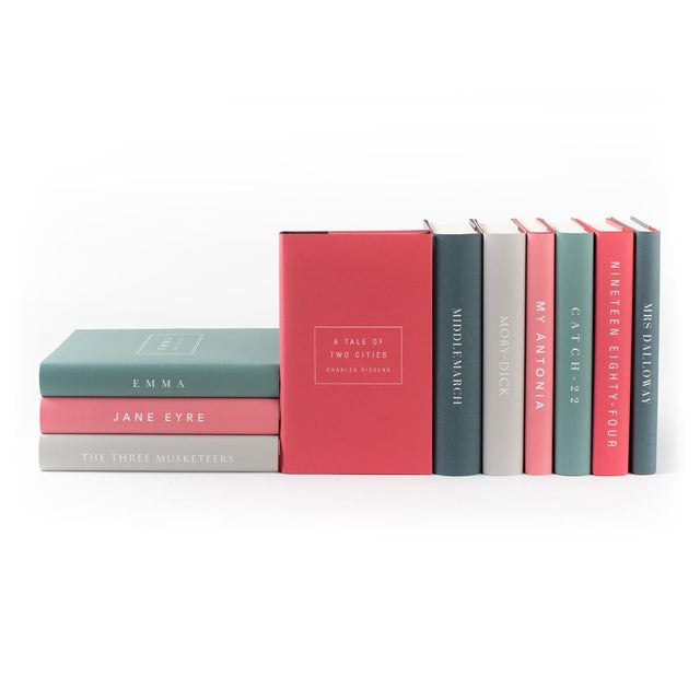 The Modern Classics Book Collection - Set of 10 in Bright Colors For Sale In Denver - Image 6 of 6