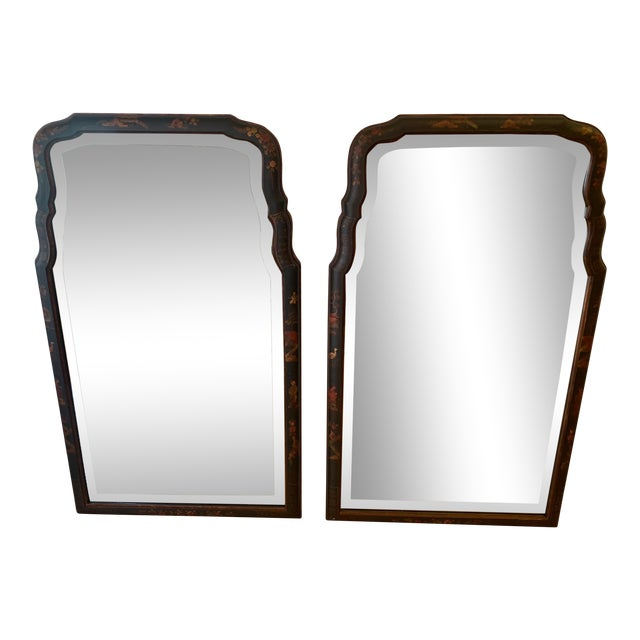 Hand Painted Chinoiserie Mirrors -A Pair For Sale