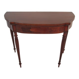 1900s Traditional Solid Mahogany Card Table For Sale
