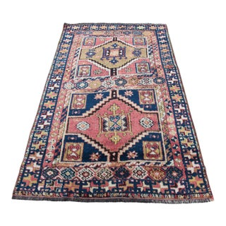 Rare Antique Kurdish Carpet - 4' x 6' 7''