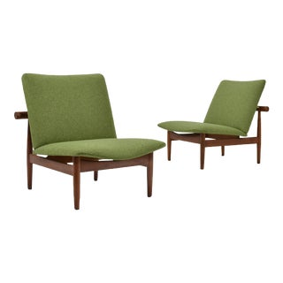 Pair of Finn Juhl Japan Chairs by France & Søn For Sale