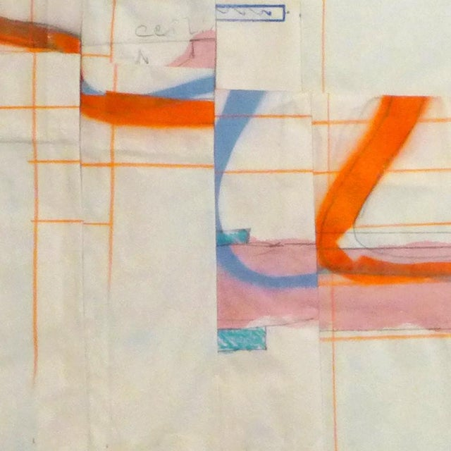 "Abstract Peter Soriano ""Warren 85. 18"", Mixed Media For Sale - Image 3 of 4"