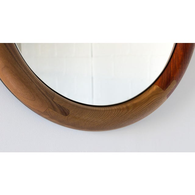 Wood Halo Round Birnam Wood Studio Mirror For Sale - Image 7 of 10
