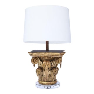 Giltwood Capital as Table Lamp For Sale