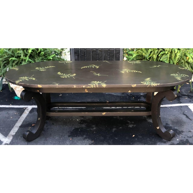 Italian Patina Furniture Inc. Hand Painted Italian Dining Table For Sale - Image 3 of 7
