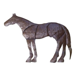 Rustic Metal Decorative Horse Wall Hanging For Sale