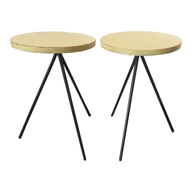 Birch 1950s Modern Norman Cherner Tripod Stools - a Pair For Sale - Image 7 of 7