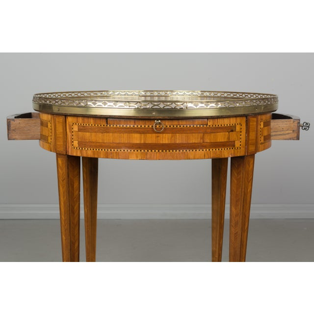 Gold 1960s French Louis XVI Style Side Table For Sale - Image 8 of 10
