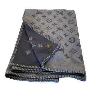 Louis Vuitton Grey Blanket For Sale