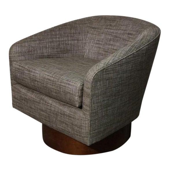 Milo Baughman Swivel Chair For Sale