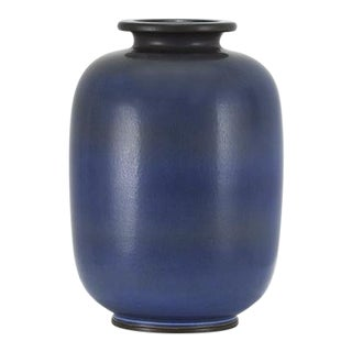 BERNDT FRIBERG Cylindrical Shouldered Vase with Wide Rim Sweden, ca. 1955 For Sale