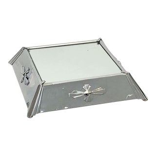 Art Deco Plateau Mirror or Mirrored Cake Stand From England For Sale