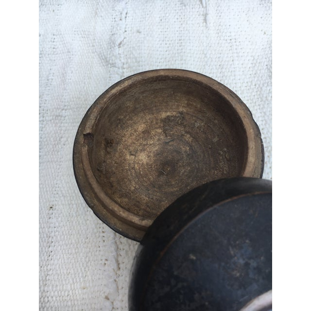 1920s Antique Chinese Geisha Face Powder Box W/ Eye For Sale - Image 5 of 9