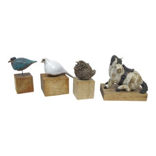 Vintage Mid-Century Animal Sculptures - Set of 4 For Sale