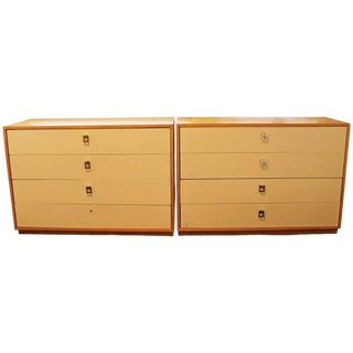 Mid Century Modern Jack Cartwright for Founders Pair Maple Dressers 1960s For Sale
