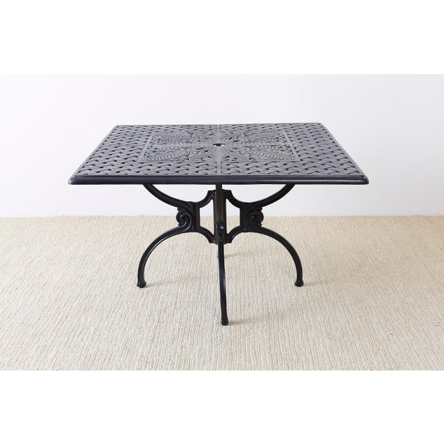 Molla Neoclassical Molla Style Cast Aluminium Garden Dining Table For Sale - Image 4 of 13