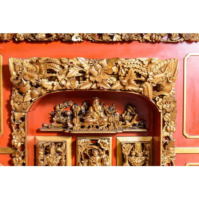 Chinese lacquered cabinet on stand For Sale - Image 10 of 11