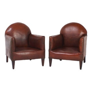 French Art Deco Childs Club Chairs - A Pair For Sale