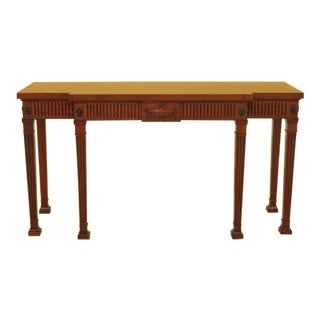 Adam Style Mahogany Console Table Sideboard For Sale