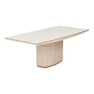 Willy Rizzo Travertine Dining Table For Sale
