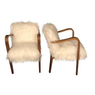 Mid-Century Lounge Chairs by Thonet - A Pair For Sale