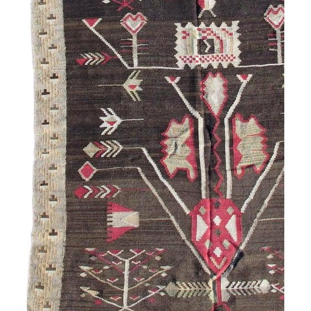 Folk Art Bessarabian Kilim Runner For Sale - Image 3 of 4