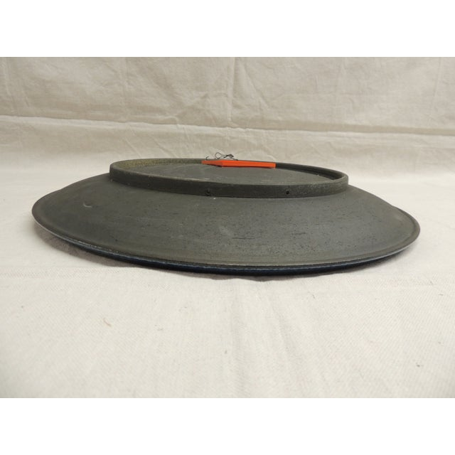 Large Mid-Century Modern Round Wall Sculpture Dish - Image 4 of 4