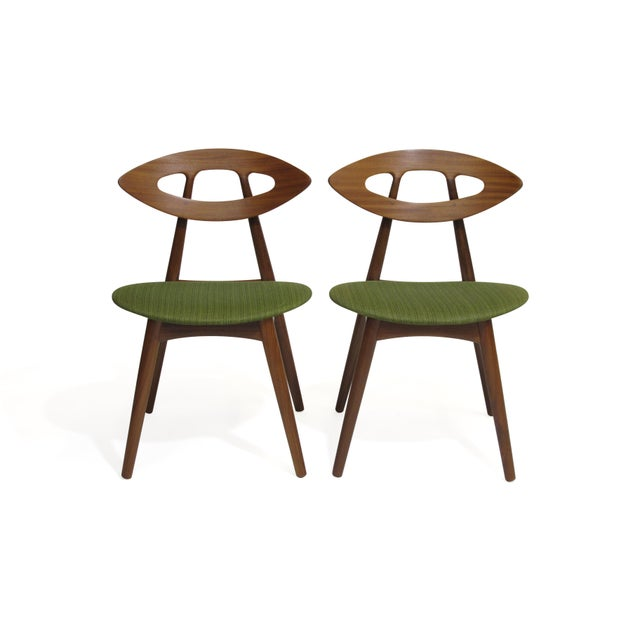 Pair of Ejvind a Johansson Danish Eye Chairs For Sale - Image 13 of 13