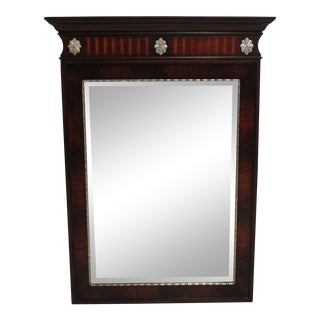 Ethan Allen Townhouse Mahogany Carved Dresser Wall Mirror For Sale