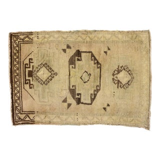 Vintage Turkish Oushak Yastik Scatter Rug - 02'00 X 02'11 For Sale