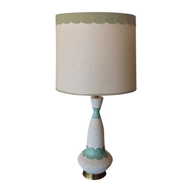 Mid Century Modern Lamp & Original Shade - Image 1 of 9