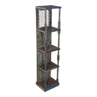 Industrial Designe Gallerie Garrin Wooden Bookcase For Sale