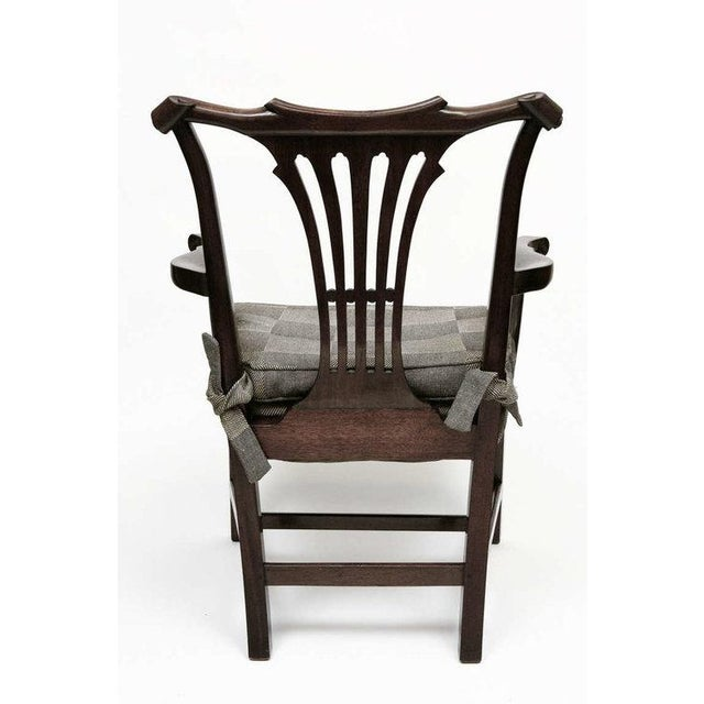 1950s Georgian Style Mahogany Arm Chairs - a Pair For Sale - Image 4 of 6