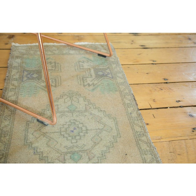 Vintage Distressed Oushak Runner -1′7″ × 3′7″ For Sale - Image 4 of 5