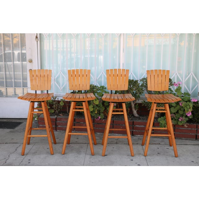 Arthur Umanoff Mid Century Set 0f 4 Bar Stools For Sale - Image 9 of 9