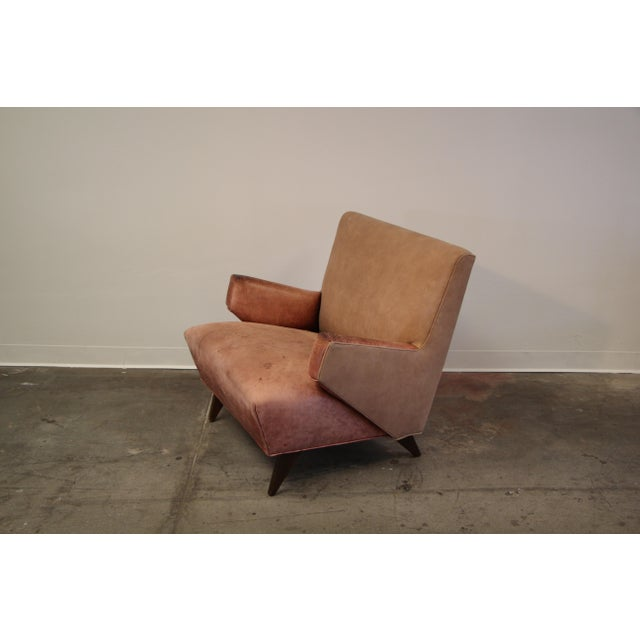Mid-Century Modern 1950s Vintage Jens Risom for Knoll Custom Lounge Chair For Sale - Image 3 of 13