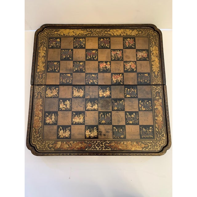 Chinese Hand Painted Lacquered Game Board For Sale - Image 9 of 13