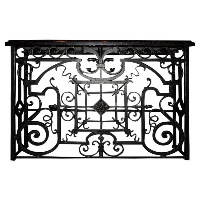 Late 20th Century Cast Iron Console For Sale - Image 5 of 5