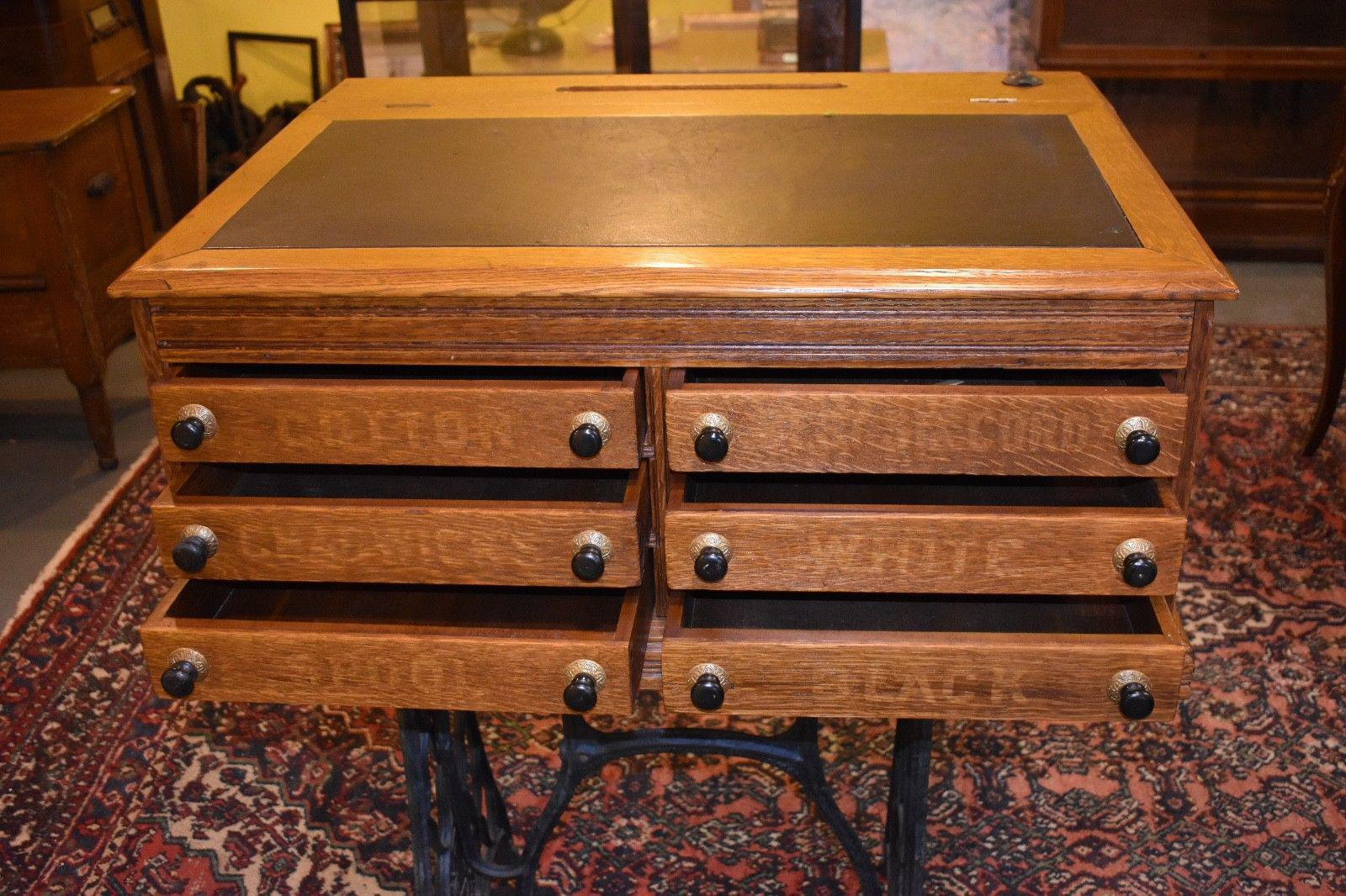 Antique Refinished 6  Drawer Country Store Spool Cabinet   Image 2 Of 11