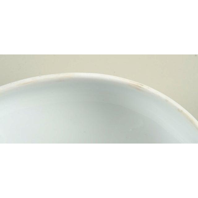 Ceramic Mottahedeh Indigo Covered Serving Bowl For Sale - Image 7 of 11