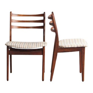 1960s Danish Modern Rosewood Dining Chairs - a Pair For Sale