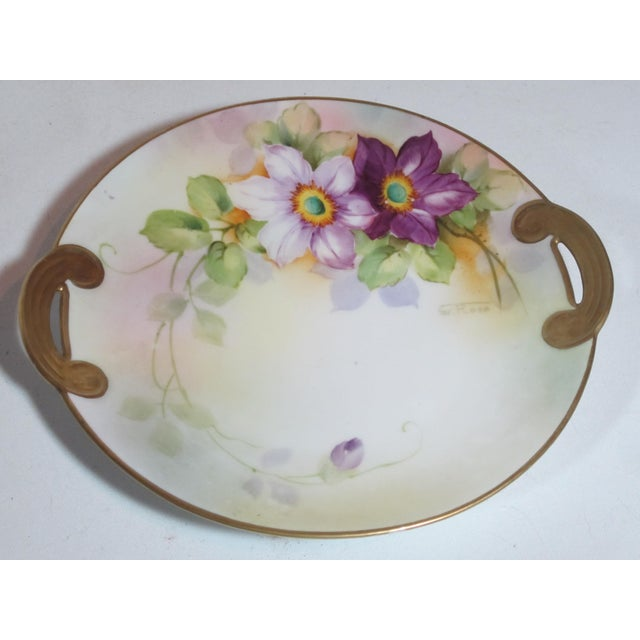 Nippon Floral Plates - A Pair For Sale - Image 4 of 5