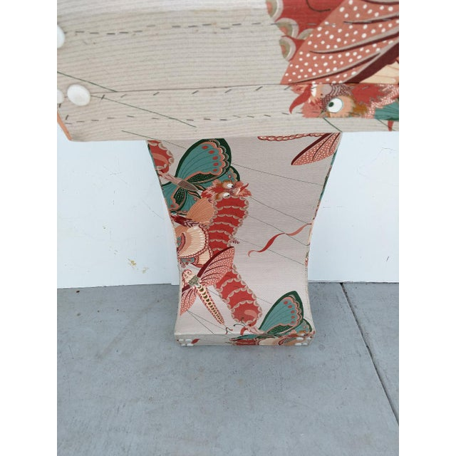 1970's Modern Asian Style Upholstered Bench For Sale - Image 11 of 12