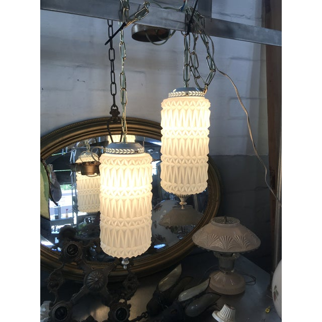 Mid-Century Modern Mid-Century Modern Pendant Swag Lights - a Pair For Sale - Image 3 of 9