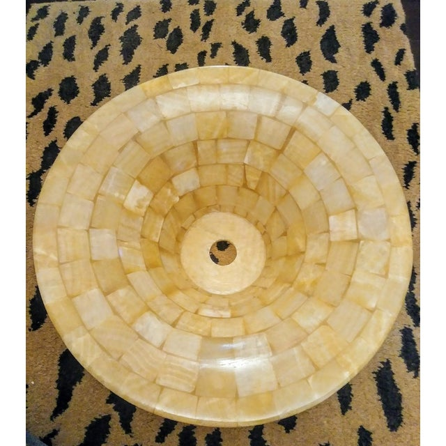Stone Tessellated Natural Stone Vessel Above Vanity Sink For Sale - Image 7 of 8