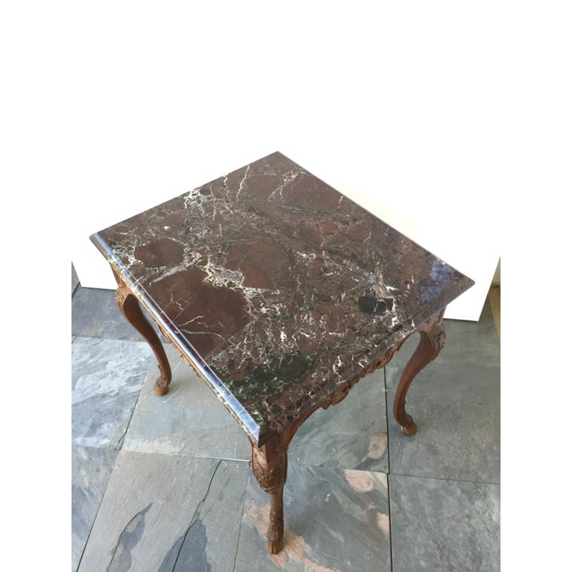 French Regency Style Marble Top Side Table - Image 2 of 5