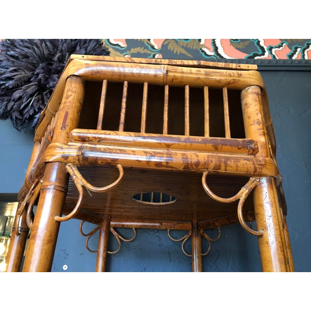 Chinoiserie Vintage Boho Chic Bamboo Etagere For Sale - Image 3 of 9