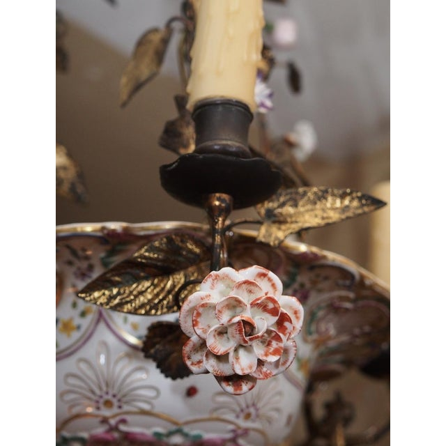 Antique French Porcelain Chandelier For Sale In New Orleans - Image 6 of 7