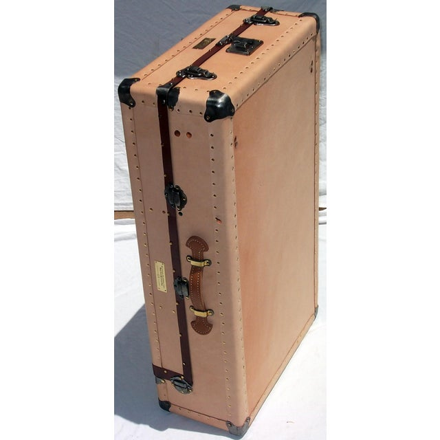Knapp Antique Tanned Leather Tourist Trunk - Image 2 of 5