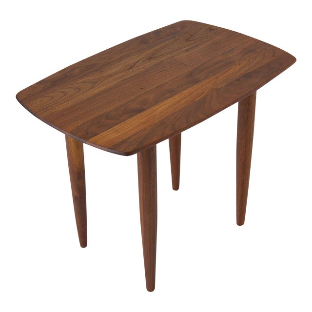 Prelude Walnut Side Table For Sale